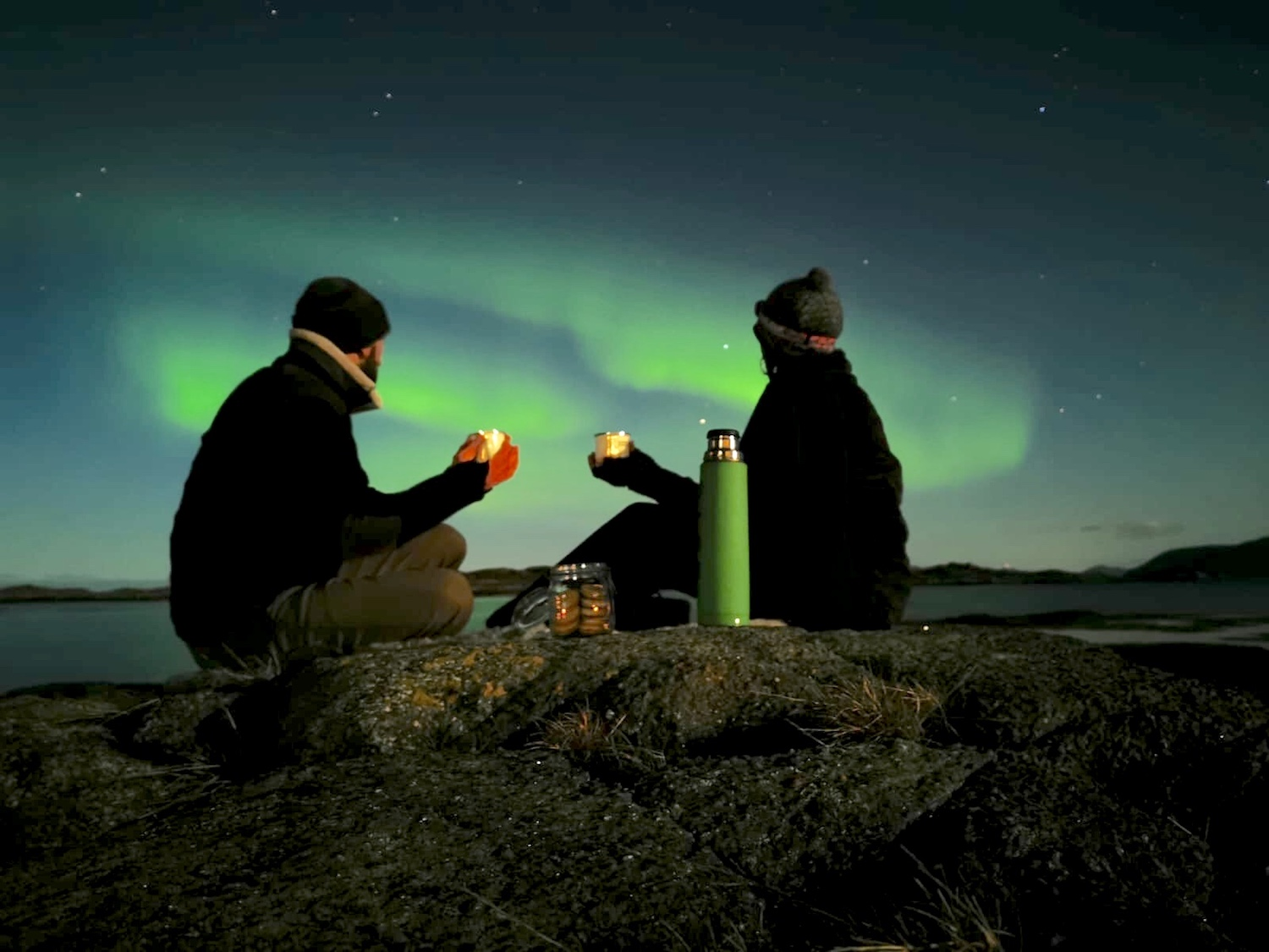 Northern Lights picnic Norway